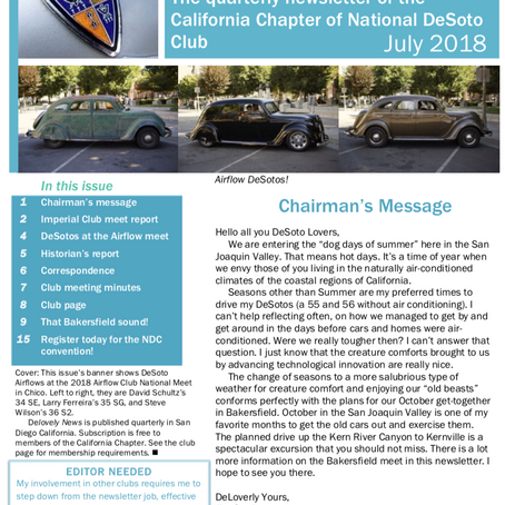 July Delovely News Chico Meet report