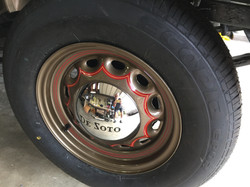 1936 DeSoto sunburst wheel