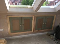 Eve storage with MDF shaker doors