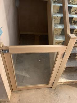 Half height oak door