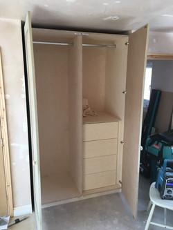Birch plywood free-standing wardrobes