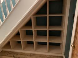 Birch Plywood Understair Shelving Unit