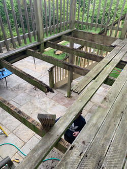 Old rotten decking and joists