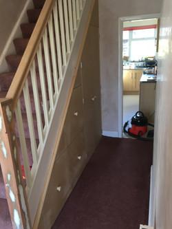 MDF under-stair storage