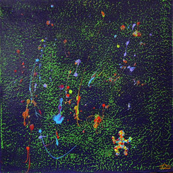 Pluie psychedelique (40x40)