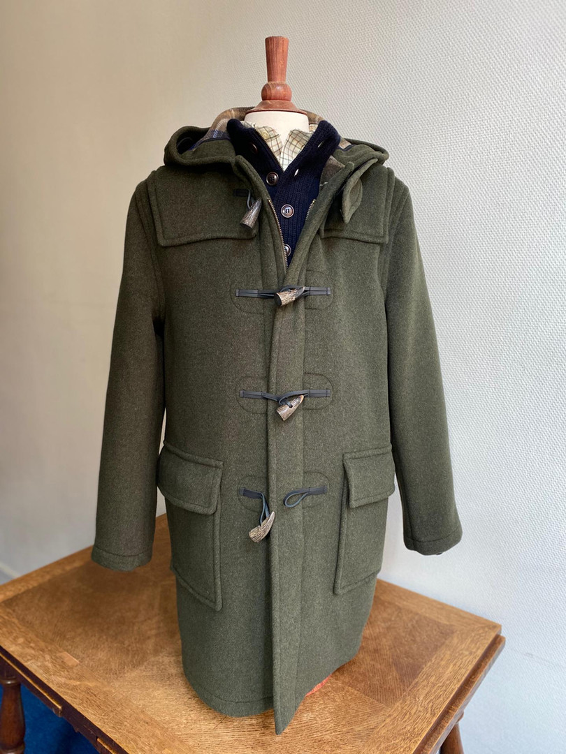 London Tradition Duffle Coat Olive