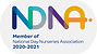 NDNA member logo with lozenge for colour