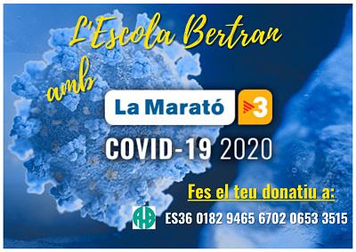 L'escola Bertran col•labora amb la Marató de TV3