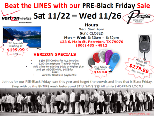 Perryton Office Supply/Radio Shack Black Friday