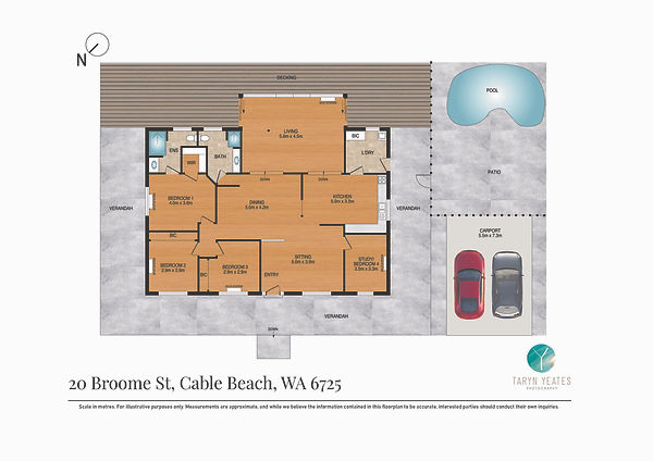 2D Colour Floor Plan