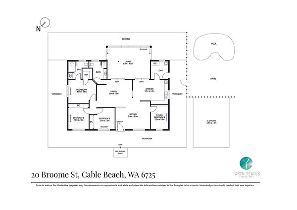 2D Floor Plan B&W