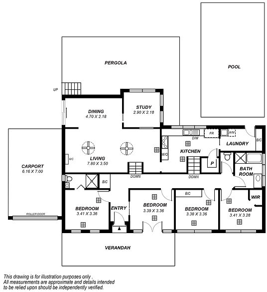 Floor plan drawing Broome