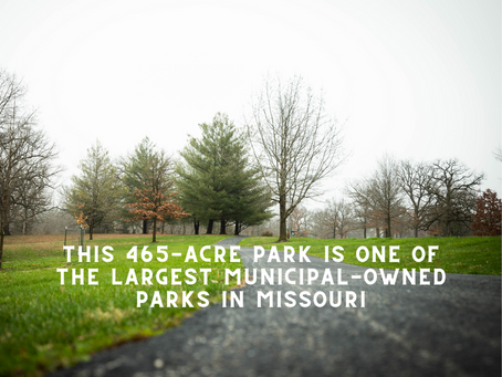 This 465-acre park is one of the largest municipal-owned parks in Missouri.