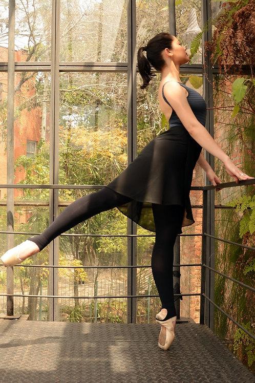 Saia tulipa midi para ballet