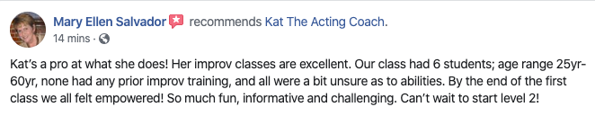 Kat The Acting Coach Review