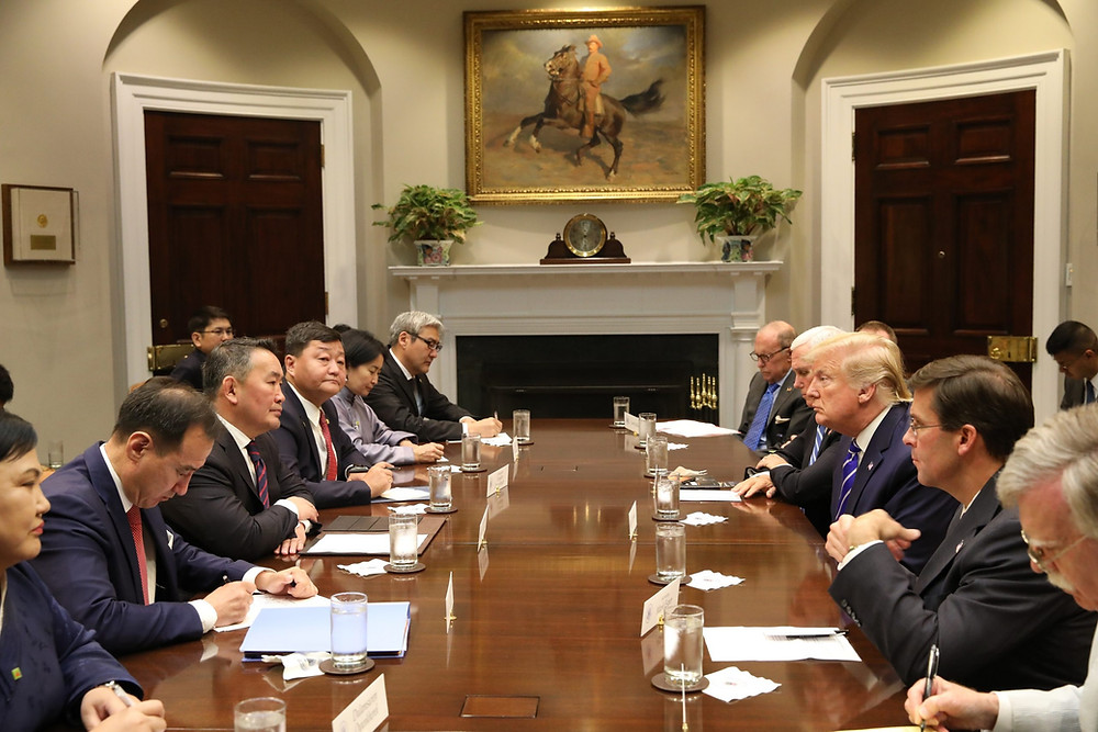 The move is formal approval of a declaration made during President Battulga's visit to Washington in 2019. (Image: President.mn)