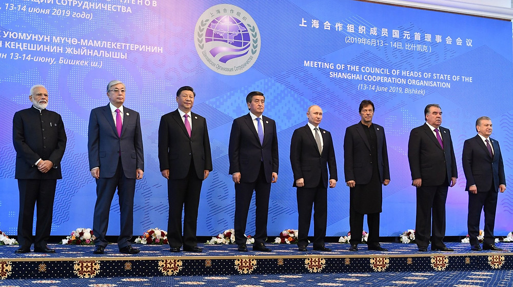 The leaders of the SCO back in 2019. (Image via @MIB_India)