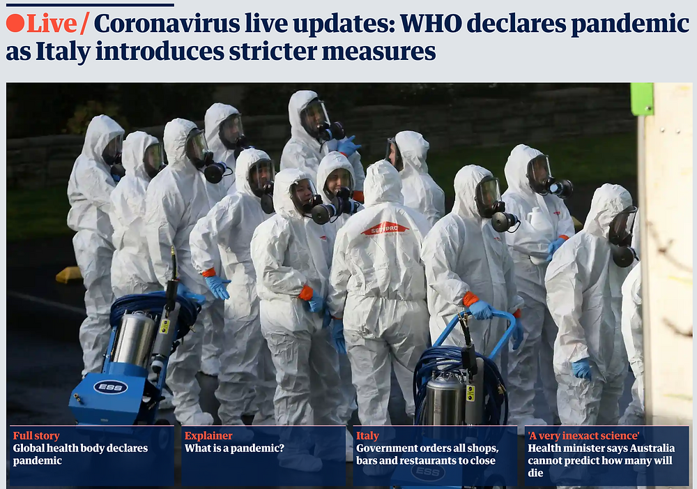 The Guardian Australia's homepage this morning.