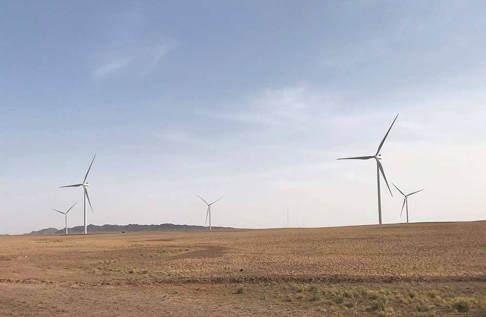 The Tsetsii Wind Farm in Southern Mongolia. Credit: Vestas