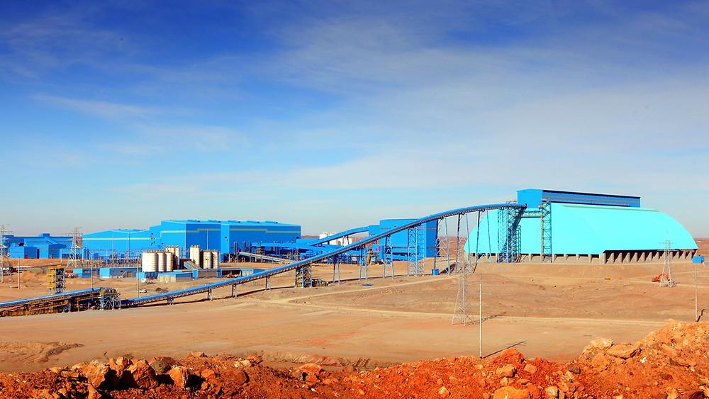 The Oyu Tolgoi mine site. (Rio Tinto)
