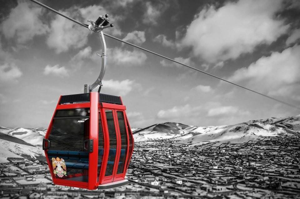A concept photo of UB's future cable car line. (Poma)