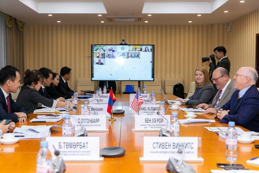 The talks were held in Ulaanbaatar last week. (Image: @USAmbMongolia)