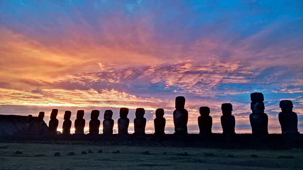 Monuments on Easter Island.