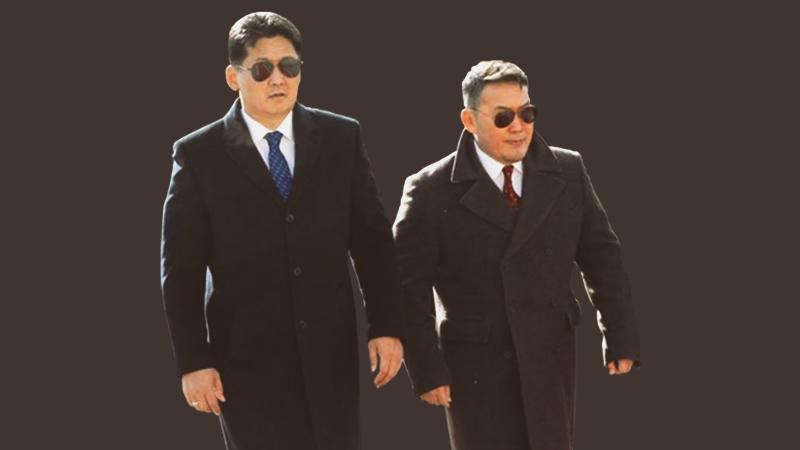 Former Prime Minister Khurelsukh and President Battulga (image from ubn.mn ).