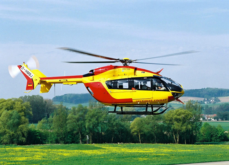 An Airbus EC145 helicopter. (Image: Thales)