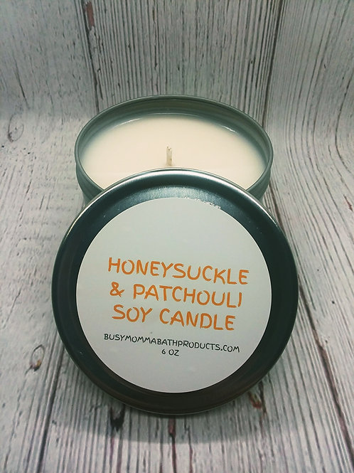 Honeysuckle & Patchouli Soy Candles