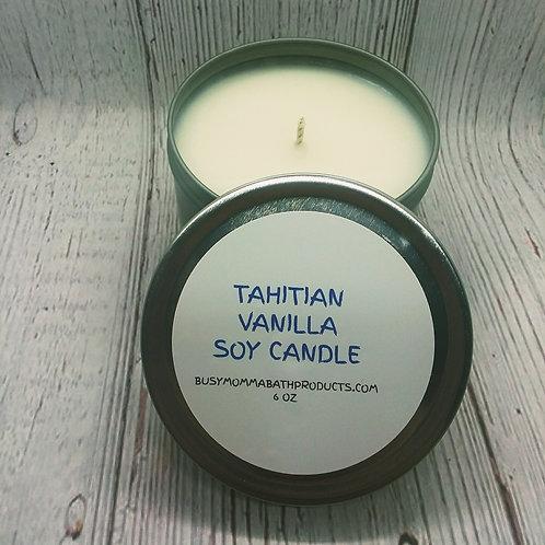 Tahitian Vanilla Soy Candles