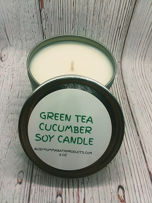 Green Tea & Cucumber Soy Candles