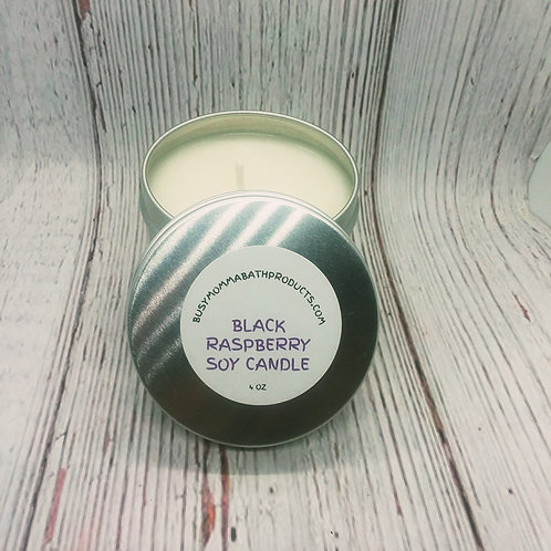 Black Raspberry Soy Candles