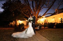 night bride and groom