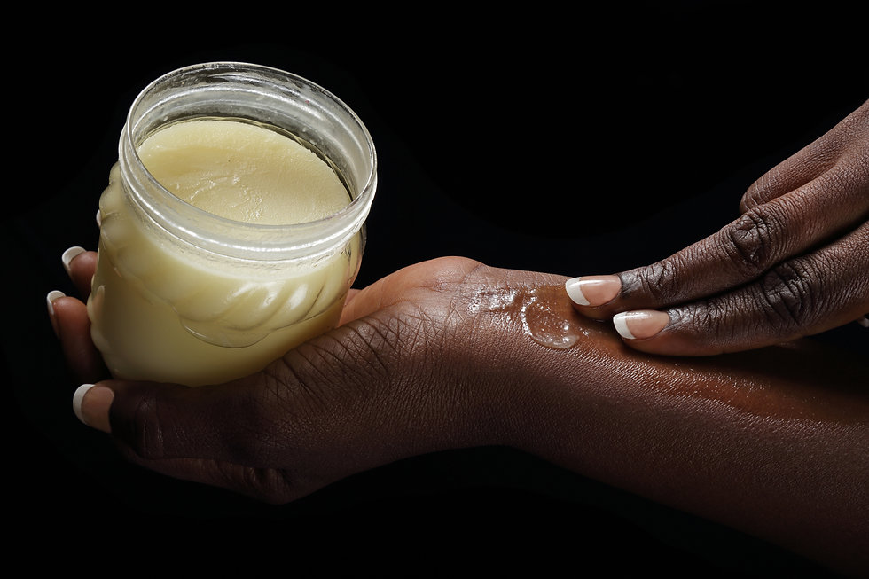 close up hands of a young black african