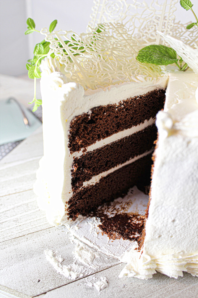 Country Chocolate Layer Cake