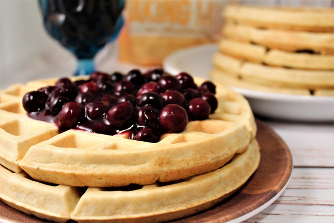 7-Grain and Seed Egg Waffles