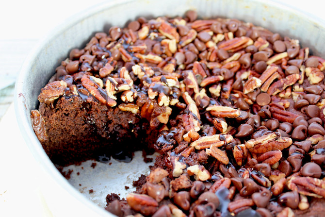 Sour Cream Chocolate Pecan Coffee Cake