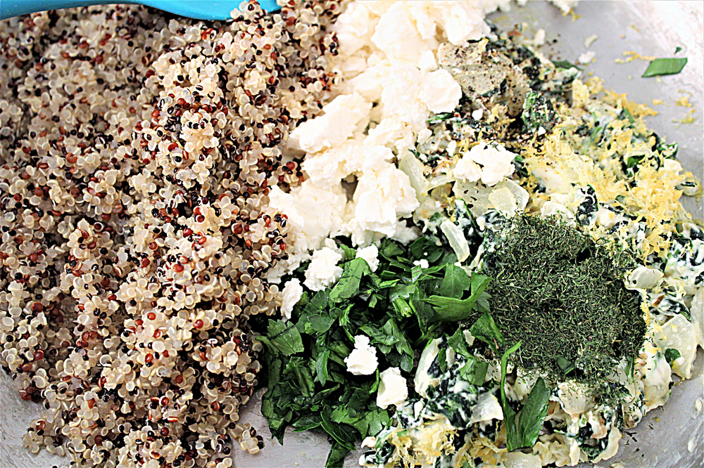 ingredients quinoa feta dill