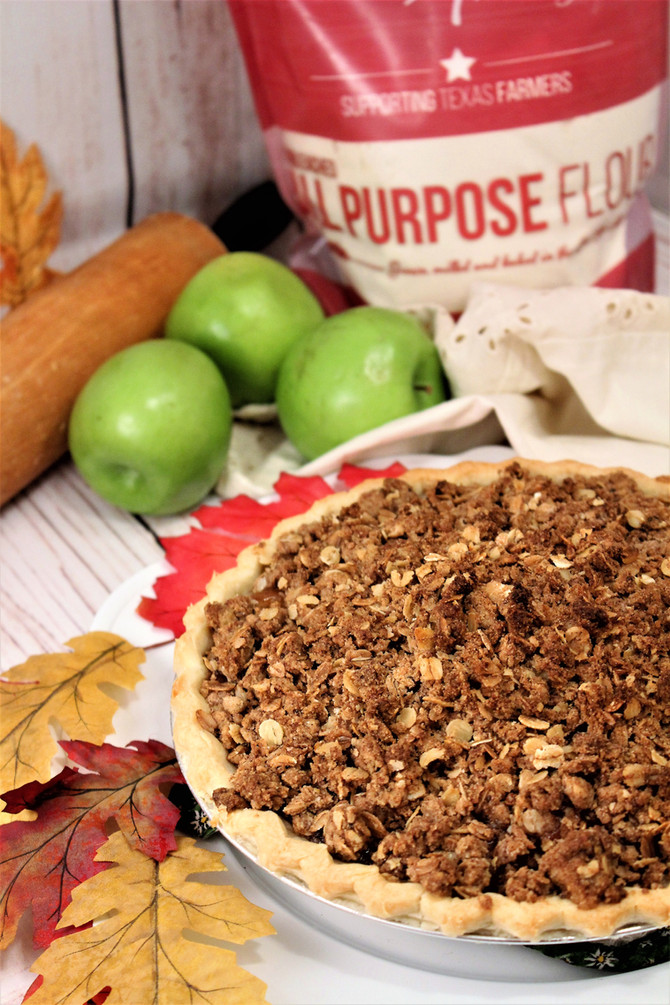 Fall Apple Maple Crisp Pie