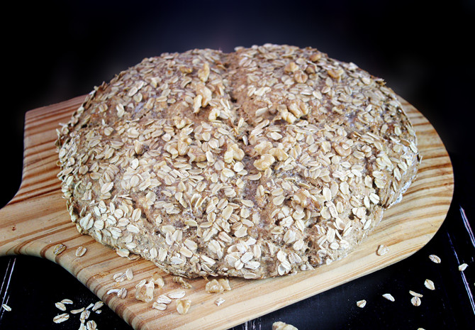Oatmeal-Walnut Soda Bread
