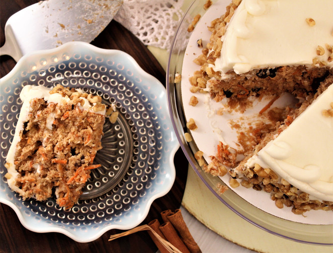 Texas Tall 3 Layer Loaded Carrot Cake