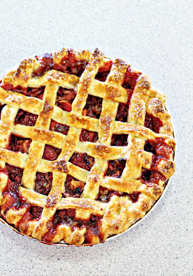 Chisholm Trail Roundup Baking Contest Grand Champion Strawberry Balsamic Pie