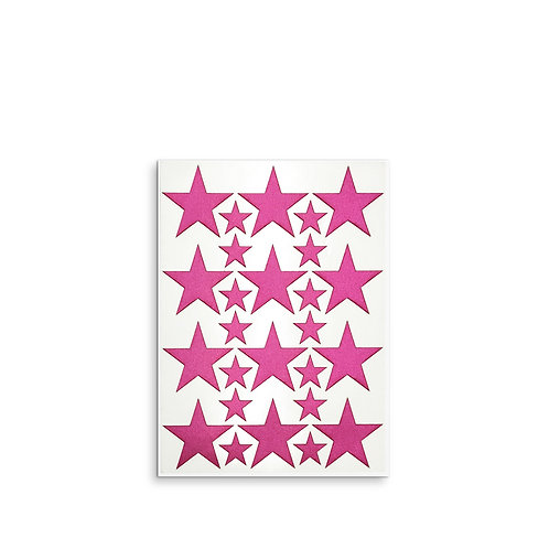Fabric stickers   Pink Stars