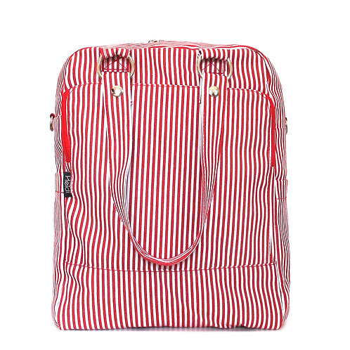 Daily + clutch bag | Red Stripes