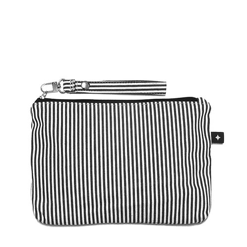 Diaper Clutch | B&W stripes