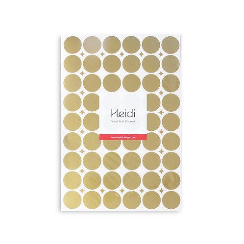 Vinyl stickers | Gold Circles