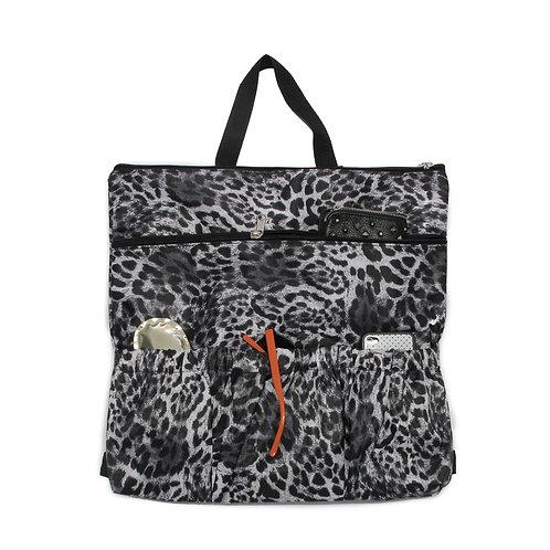 Stroller bag backpack | Basic Black leopard