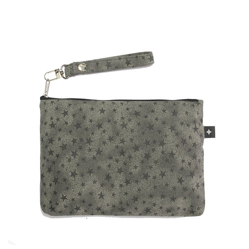 Diaper Clutch | Grey Stars