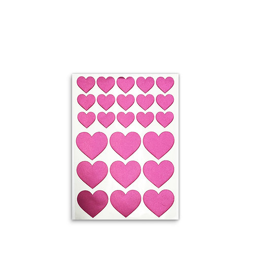 Fabric stickers | Pink Hearts